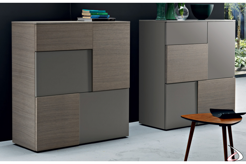 Design wooden sideboard with doors and drawer
