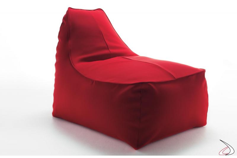 Pouf sacco moderno rosso da salotto