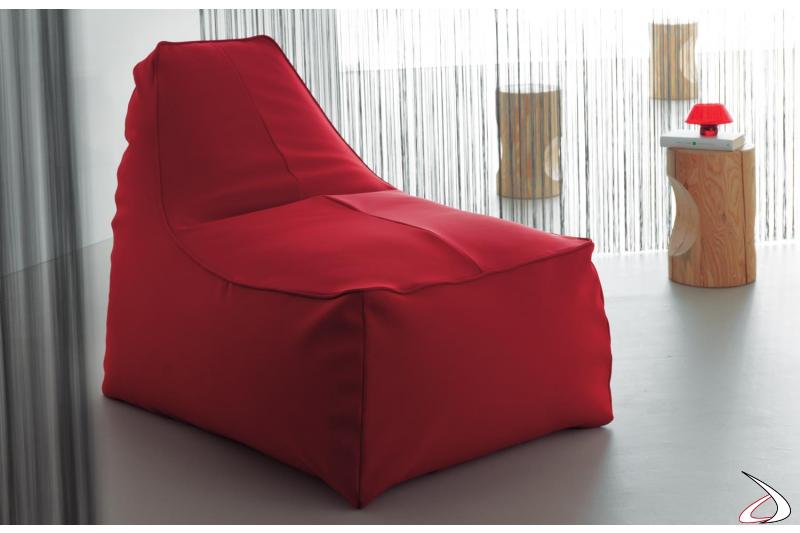 Pouf poltrona rosso da soggiorno