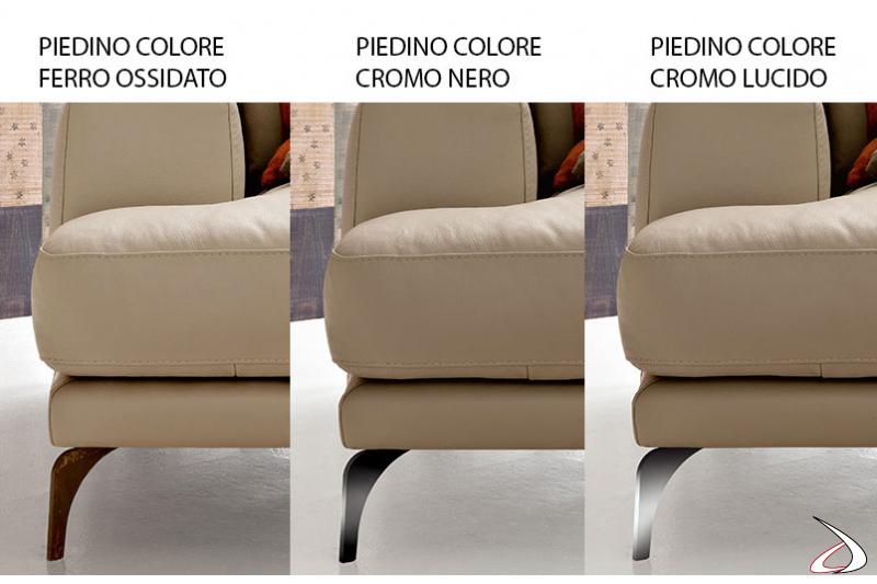 Piedini per divano moderno in metallo