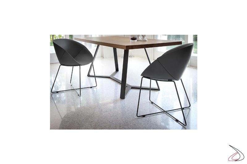Poltroncine moderne per tavolo da soggiorno