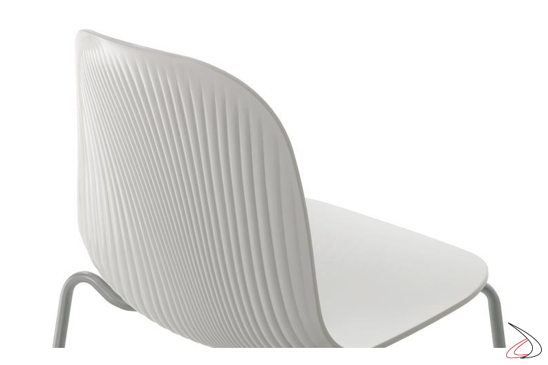 Sedia moderna bianca da soggiorno impilabili