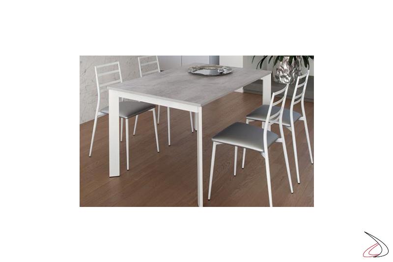 Sedia bianca moderna per tavolo cucina