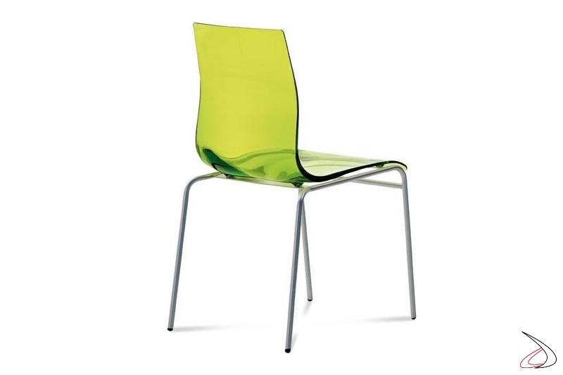 Sedia design colorata da soggiorno