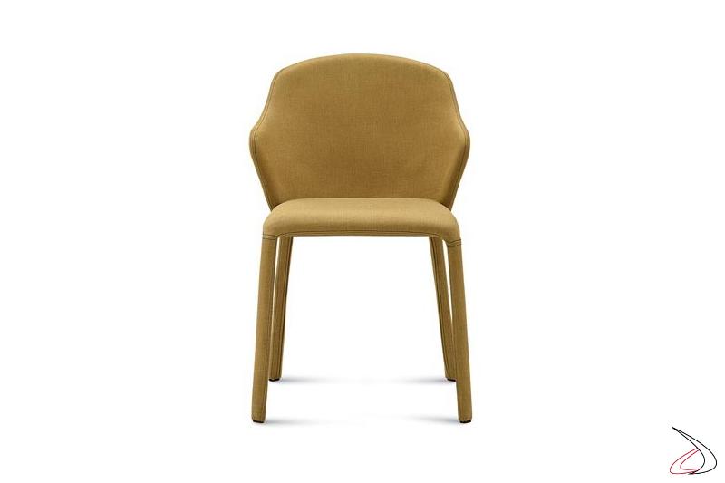 Sedia design imbottita da soggiorno