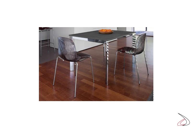 Sedia design per tavolo soggiorno