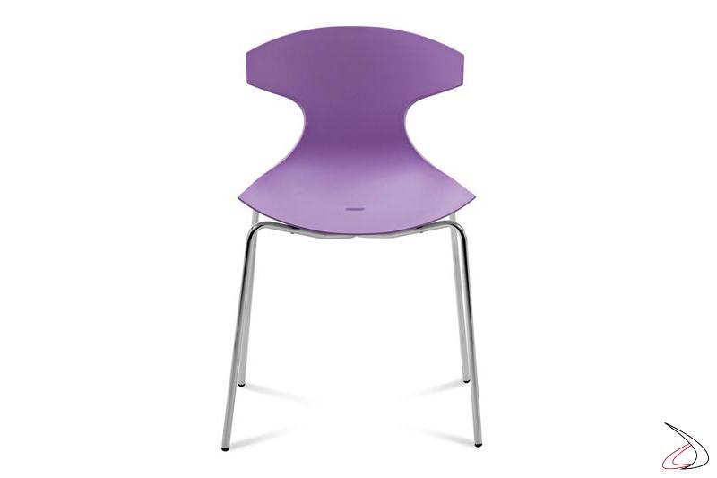 Sedia design impilabile per tavolo cucina