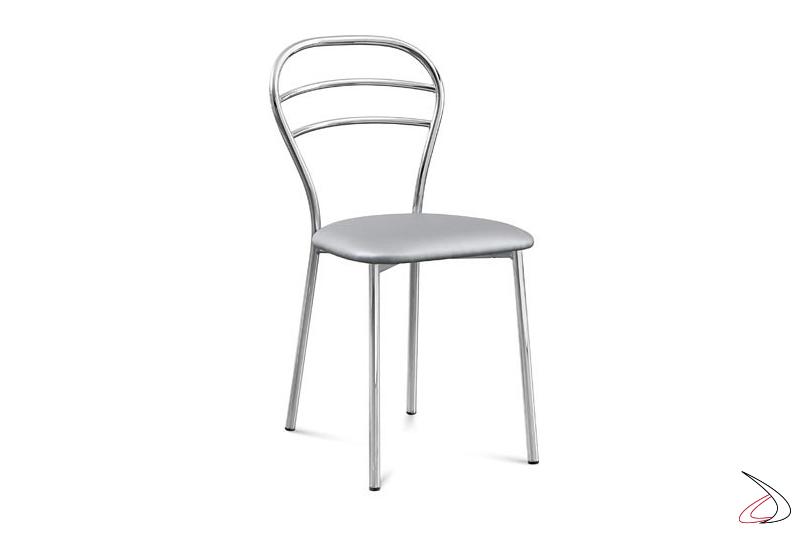 Sedia da cucina con sedile imbottito