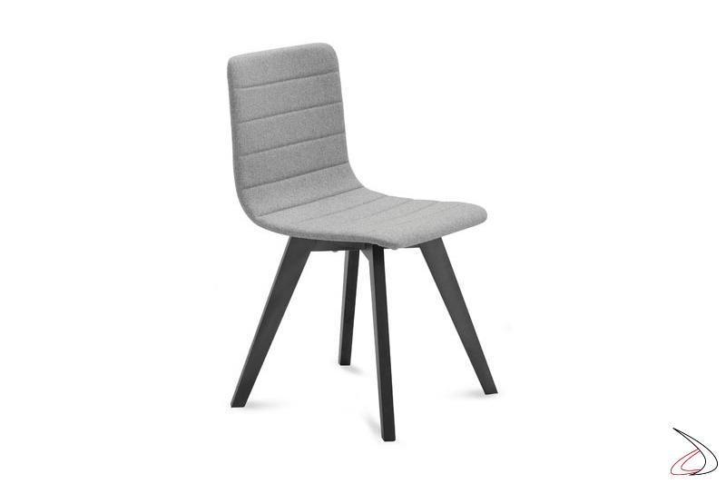 Sedia design da soggiorno imbottita