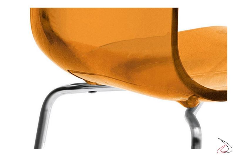 Sedile sgabello curvato di design
