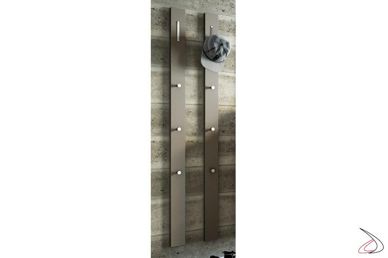 Appendiabiti Garda tortora moderni da ingresso