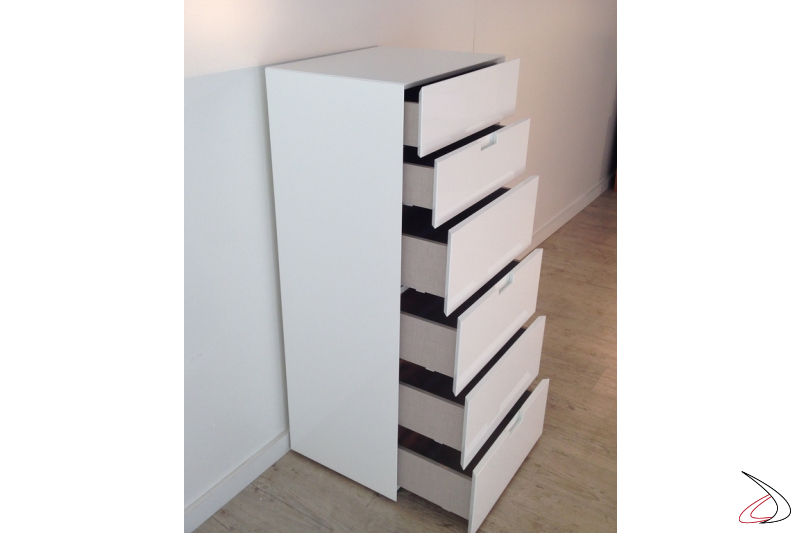 Settimanale Filo a sei cassetti bianco lucido
