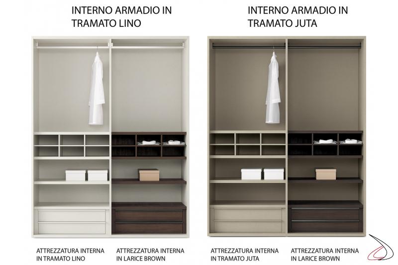 Interior finish for the modular wardrobe