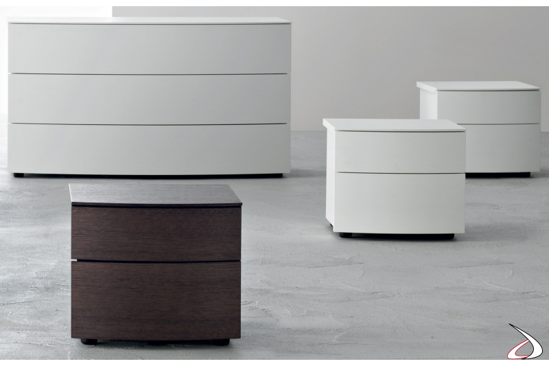 Contemporary wooden drawers