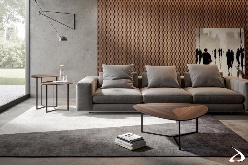Tavolini da salotto di design unici con piano in legno di eucalipto