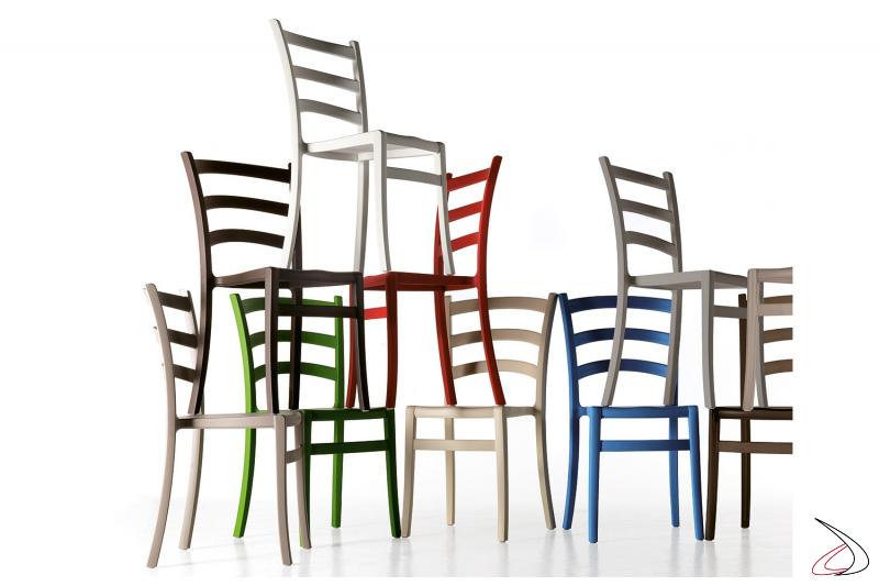 Sedie Italia150 di design in polipropilene prodotte in Italia da Colico