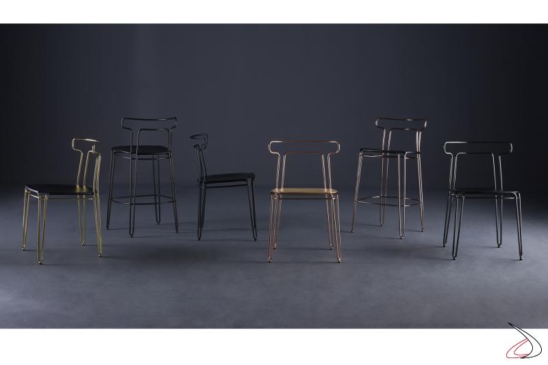 Collezione sedute Jakie by Colico design S. Grassi.