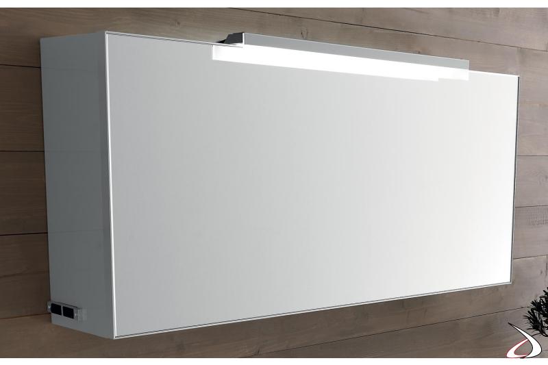 Specchio moderno contenitore da bagno