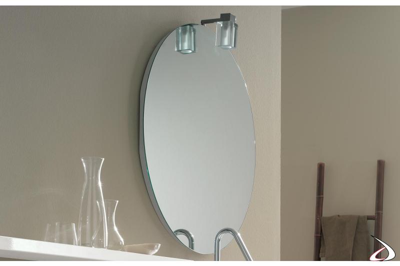 Specchiera rotonda da bagno