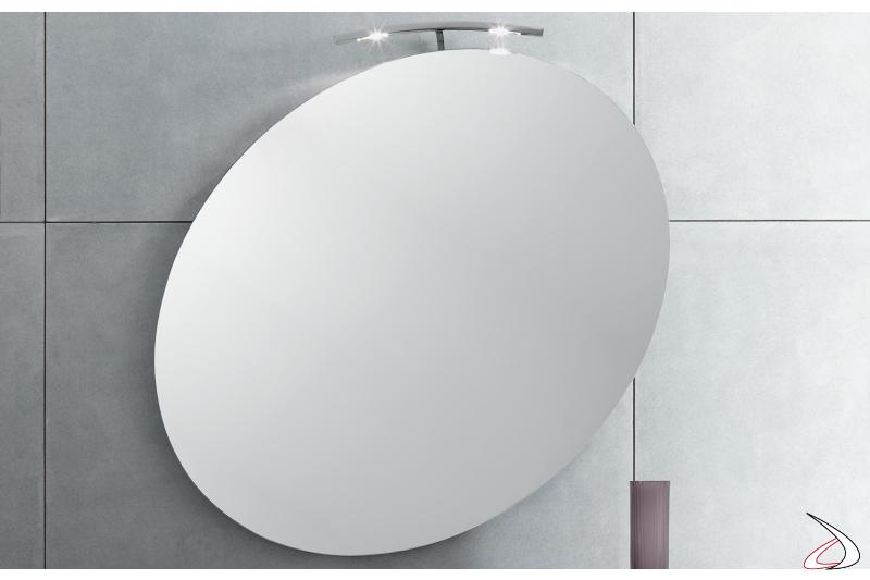Specchiera ellittica da bagno