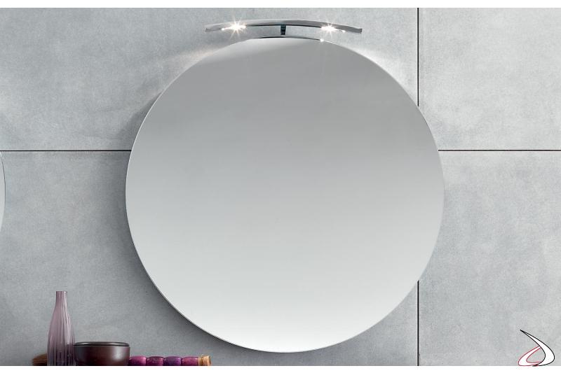 Specchio rotondo da bagno