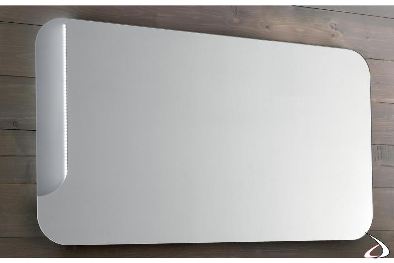 Specchiera design da bagno con luce led