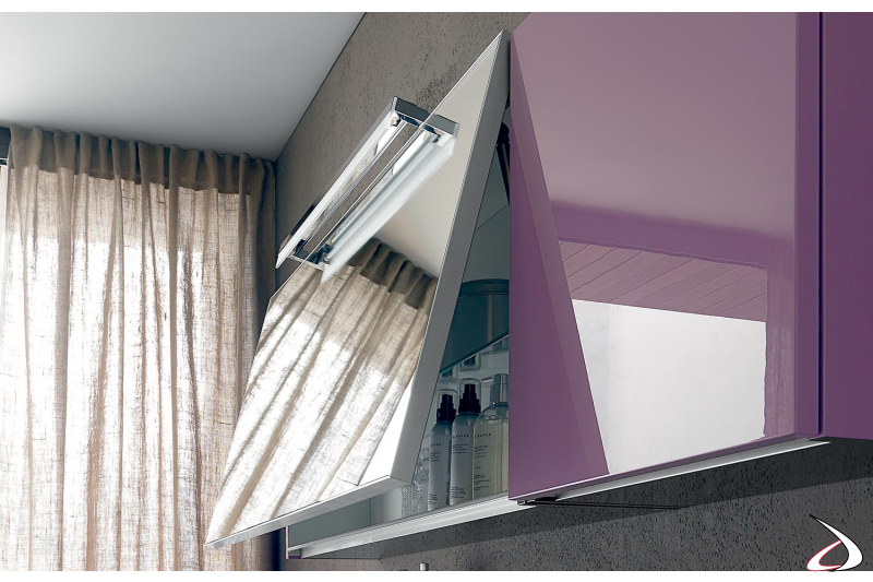 Specchio design contenitore da bagno