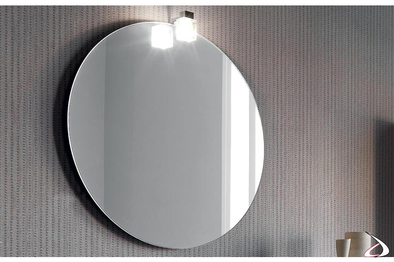 Specchio rotondo con presa ed interruttore