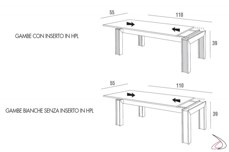 Misure tavolino moderno da soggiorno contenitore