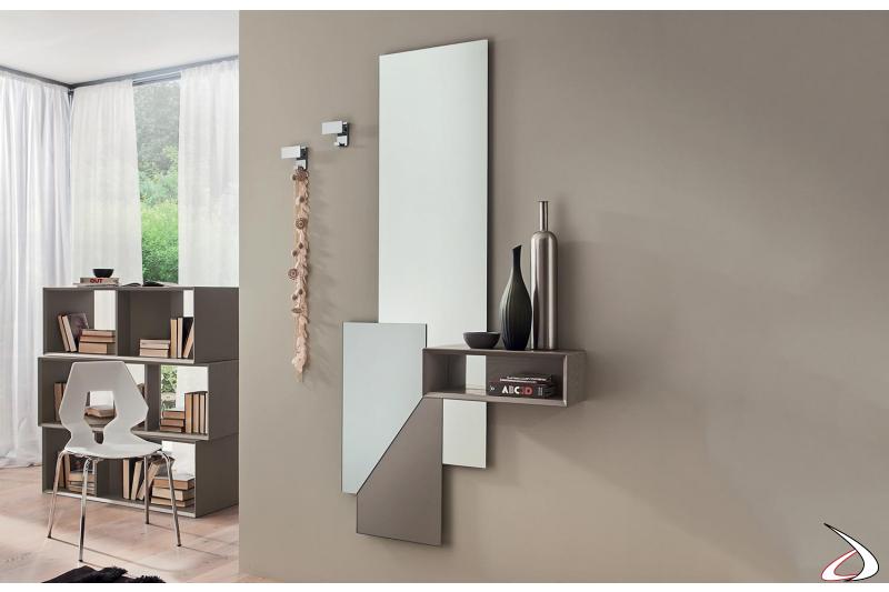 Mobile da ingresso di design con specchio grande verticale