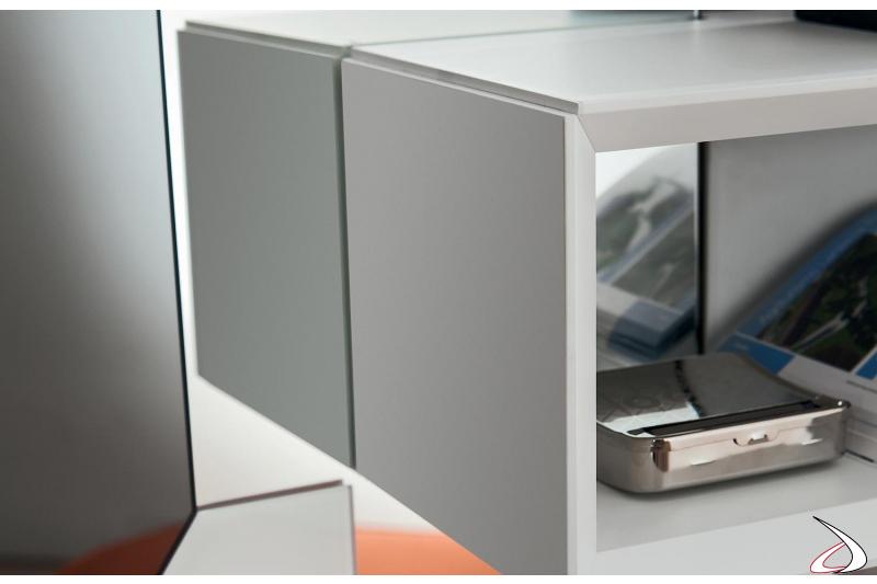 Mobile ingresso con pensile a giorno svuotatasche e porta oggetti