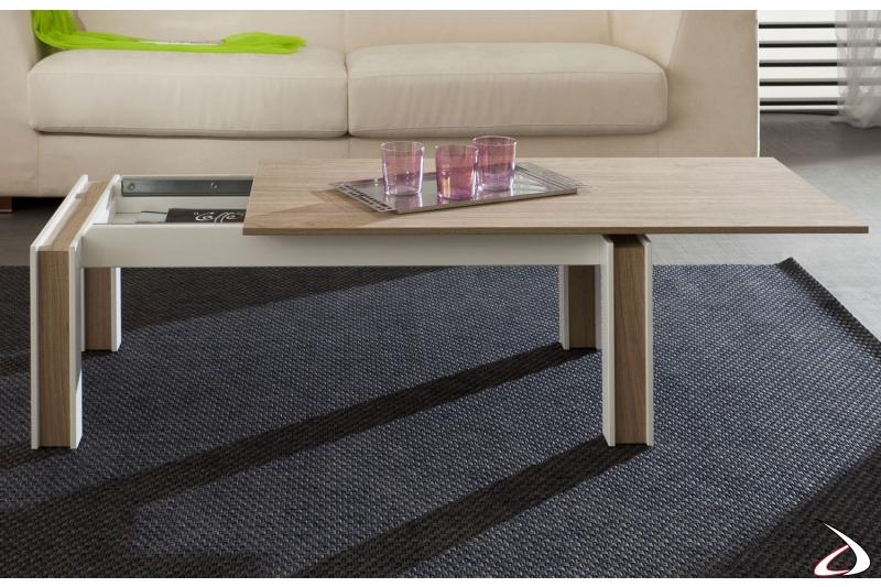 Tavolino contenitore da soggiorno