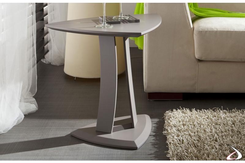 Tavolino moderno triangolare da soggiorno