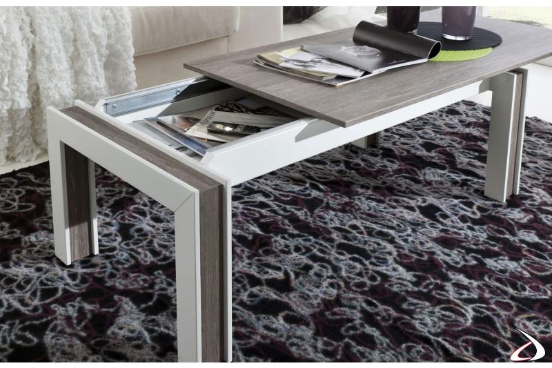 Tavolino design contenitore da salotto