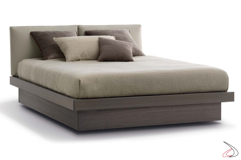Modern Storage bed with upholstered headboard