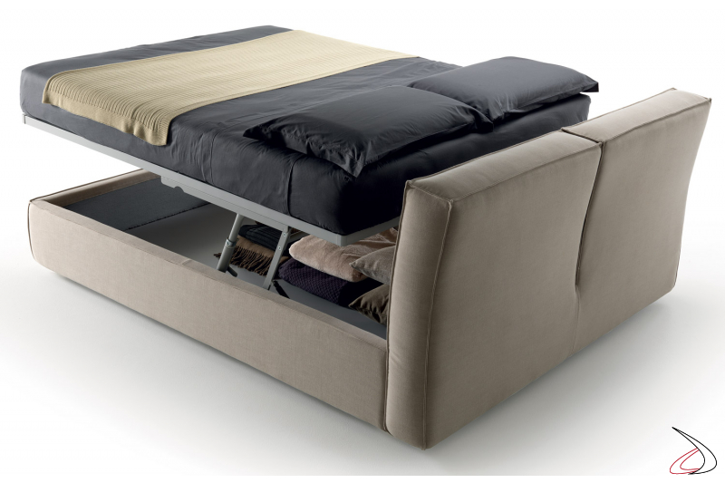 modern bed with lift system