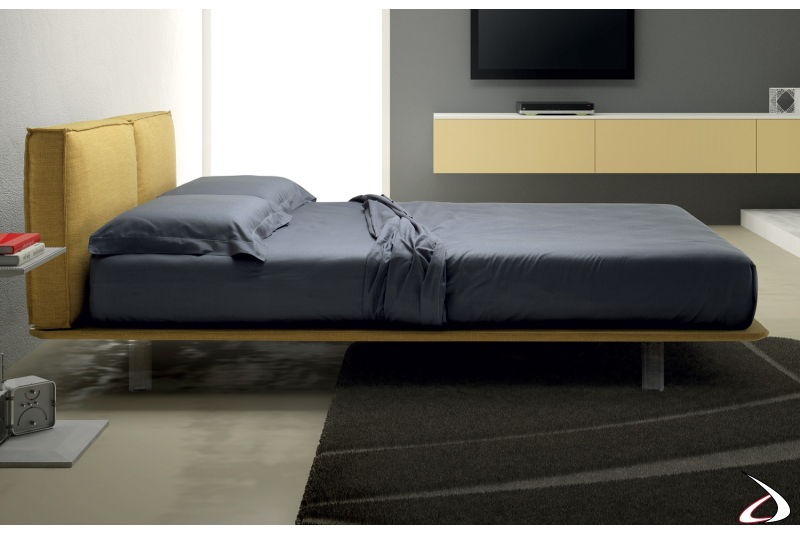 Upholstered double bed design