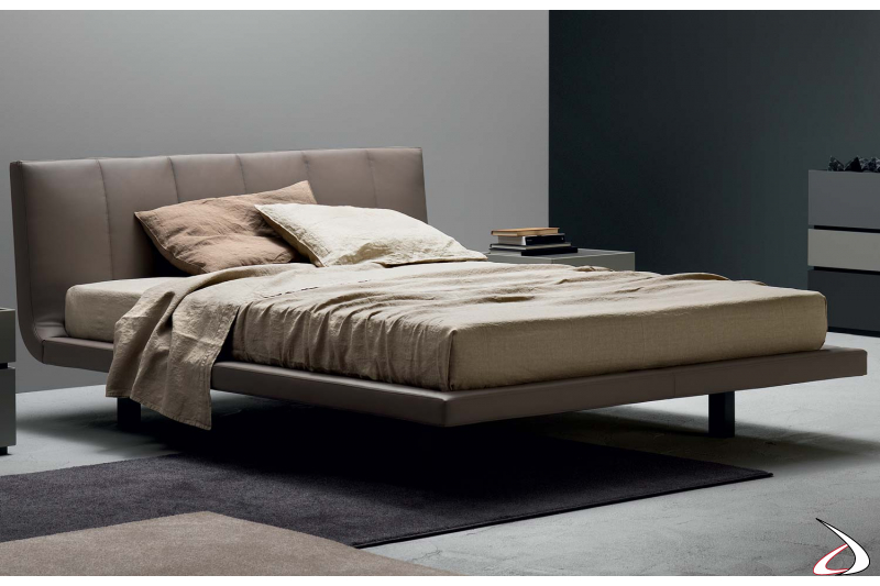 Contemporary upholstered double bed