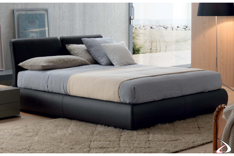 padded double bed