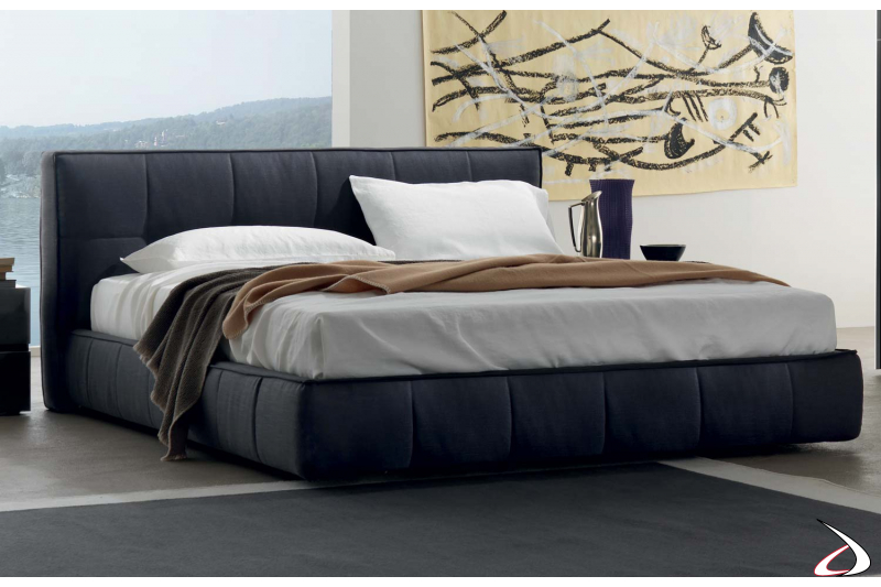 Container double bed made of fabric