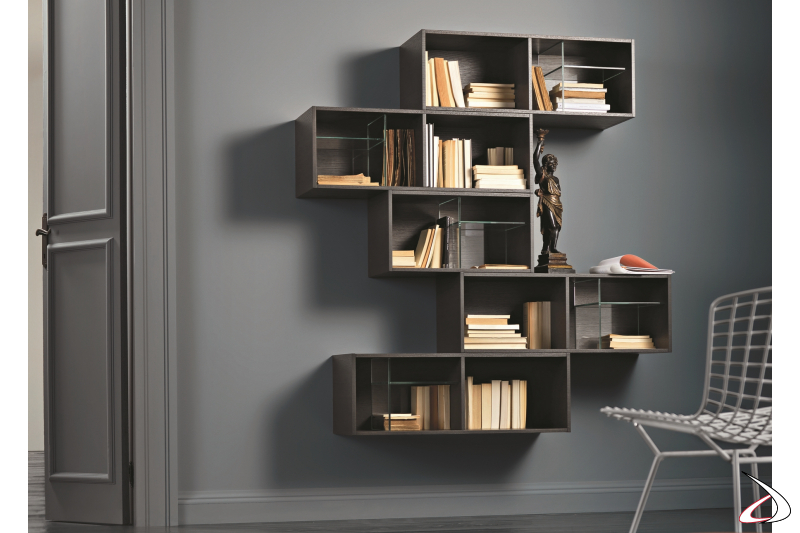 Iles suspended bookcase