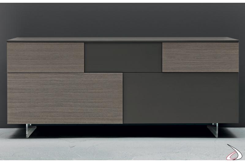 Madia moderna con ante e cassetti per il soggiorno
