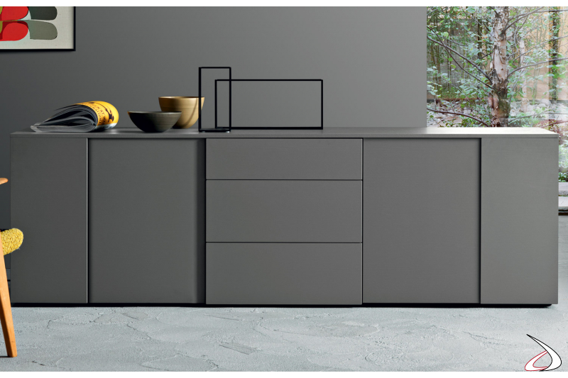 design sideboard with wooden doors and drawers