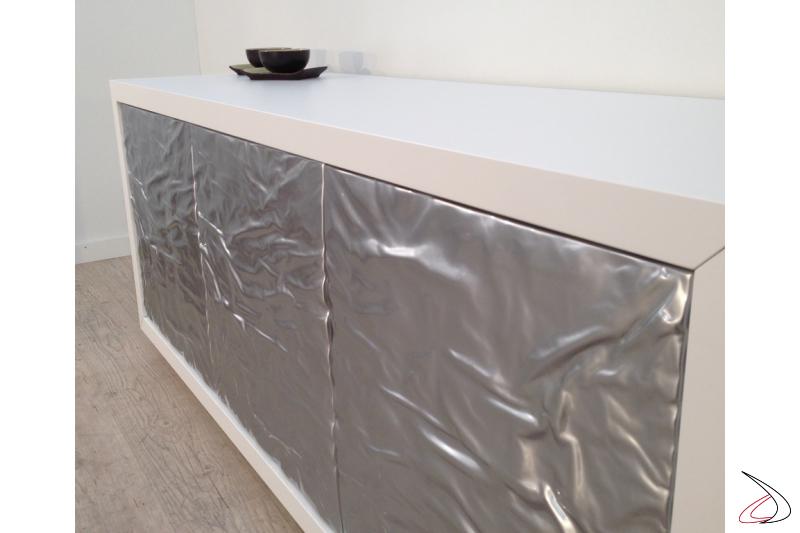 Madia design Ice metallo acciaio/bianco