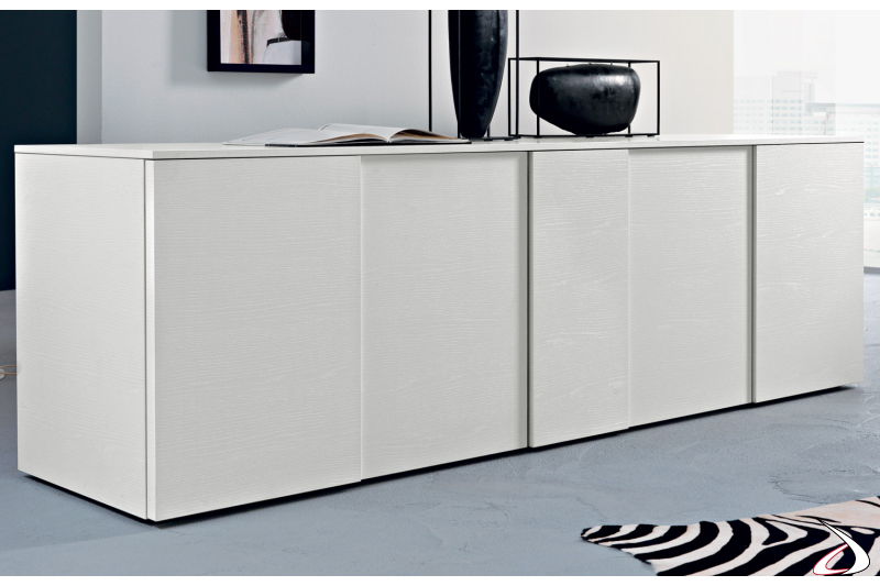 design sideboard with white wooden doors