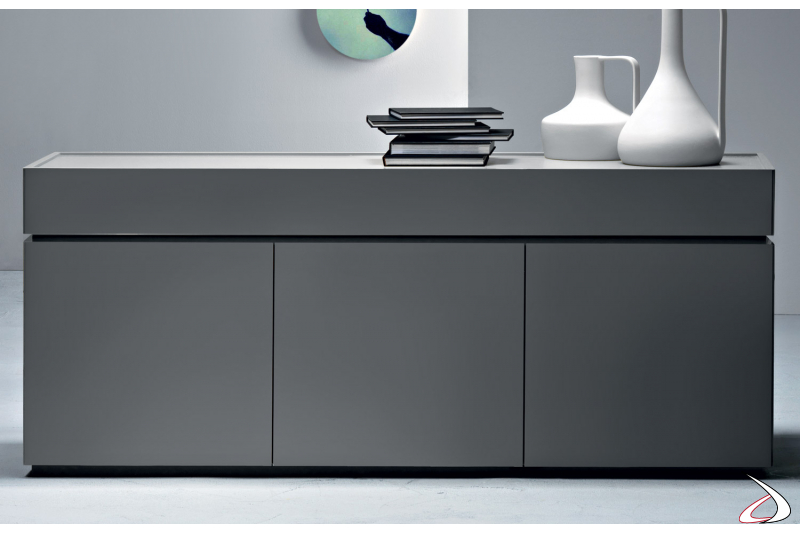 modern wooden sideboard with doors and drawers