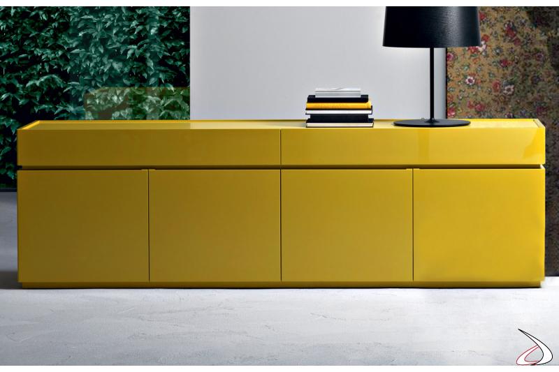 Madia moderna colorata in legno da soggiorno