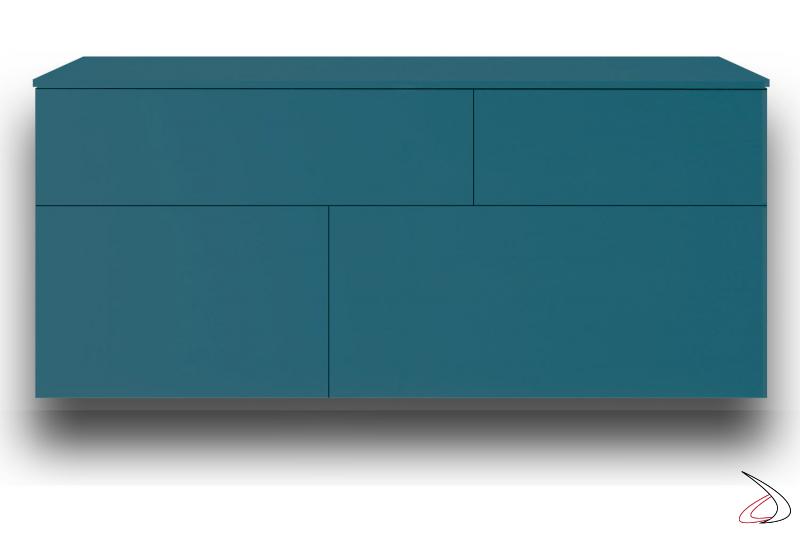 Wooden suspended sideboard