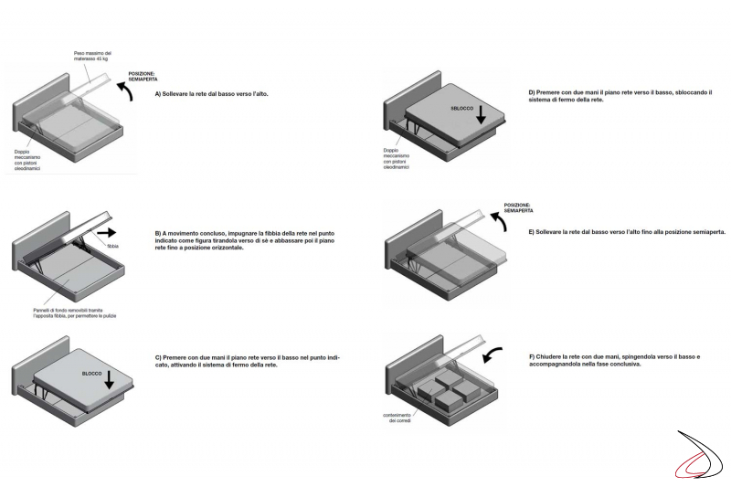 Levibed mechanism for bed