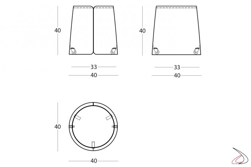 Misure tavolino design con ruote